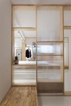 Full height wooden doors - Cao Pu converts Nanjing apartment into fashion studio Interior And Exterior, Home, Interior Architecture Design, Interior Spaces, Office Interiors, Japanese Interior, Apartment, House Interior, Arch Interior