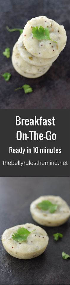Easy Peasy breakfast on-the-go recipe for those busy weekday mornings. ready in 10 minutes these savory cakes are no mess and perfect for the car ride |www.thebellyrulesthemind.net