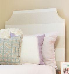 Dorm Decor Custom Headboard - Wide Stripe Cloud