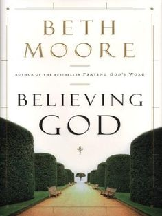 Beth Moore - Believing God,What an amazing Study! It also has you break down your life in increments and do outlines for that,..Voila, the Story of how God is working in your life or a story of your faith heritage to pass on to your children, ..I'm working on mine/ours right now and it will be dedicated to our daughters. Thank-you LORD, Thank-you Beth for this wonderful study.
