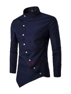 #TideBuy - #TideBuy Tidebuy Solid Color Single-Breasted Long Sleeve Mens Casual Shirt - AdoreWe.com