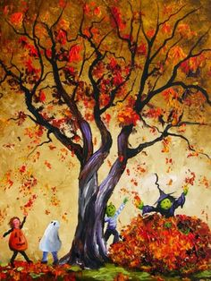 Autumn Leaves & Trick or Treat
