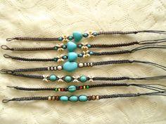 Friendship bracelet Turquoise bracelet Black by OneOfferJewelry