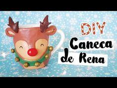 DIY: Caneca de Natal (Rena do Papai Noel)! Por Isabelle Verona - YouTube
