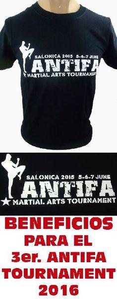 "CAMISETA SOLIDARIA: DINERO DESTINADO A LA 3ª EDICIÓN DEL ""ANTIFA MARTIAL ARTS TOURNAMENT - 2016""  SOLO HASTA FIN EXISTENCIAS.  ANTIFA MARTIAL ARTS TOURNAMENT INFO: WWW.ANTIFATOURNAMENT.BLOGSPOT.COM WWW.FACEBOOK.COM/ANTIFATOURNAMENT Pedidos (worldwide orders): www.barrio-obrero.com"