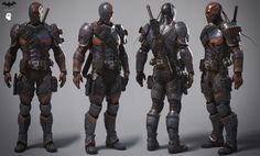 Arkham Origins Deathstroke full costume