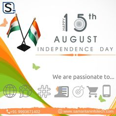 May you live an #independent life forever. Wish you all a very #happy Independence Day. #SamaritanInfoTech are pioneer in #Website #development & designing services, #Mobile application #development (Android, IOS) & SEO #services in Indore, #India. More Info. www.samaritaninfotech.com   #india #independence #bharat #independence2019 #iloveindependence #WebsiteDesign #WebDevelopment #SEOCompanyinIndoreIndia #WebsiteDesignCompanyinIndore #SEOcompanyinIndore #CheapWebsiteDesignCompanyIndia Application Development, Mobile Application, Design Development, Software Development, Social Media Marketing Agency, Internet Marketing, Digital Marketing, Indore, Cheap Website Design