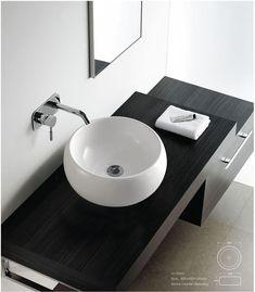 modern bathroom sinks | Contemporary Modern Round Ceramic Cloakroom Basin Bathroom Sink | eBay