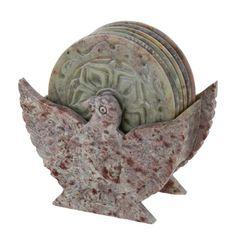 Tea coasters Soap Stone Eagles Marble stoneware 4 inches ShalinIndia,http://www.amazon.com/dp/B00GMGW2GQ/ref=cm_sw_r_pi_dp_uwQktb0K33QCXHW5
