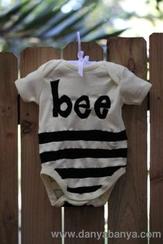 "How to make a ""Baby Bumble Bee"" infant bodysuit for under $7"