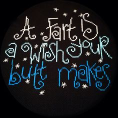 A Butt's Wish Cross Stitch on Etsy, $49.99
