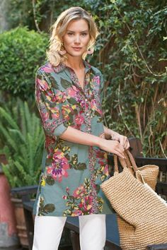 c8edeeb5fd66 Our cool cotton voile shirt is a perfect way to celebrate spring, with the  vintage