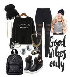 """BAD  hair Day But cute n comfy"" by styled2dagwadz ❤ liked on Polyvore featuring Bling Jewelry, BCBGeneration, Justine Clenquet, women's clothing, women, female, woman, misses and juniors"