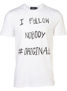 4bb8d23b Topman : T-Shirt White Graphic Shirts, Printed Shirts, Graphic Quotes, Cool