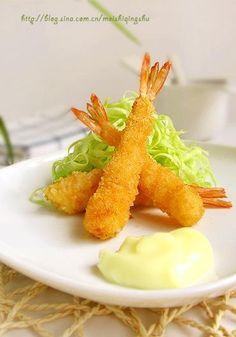 日式炸虾的做法(餐前小菜)