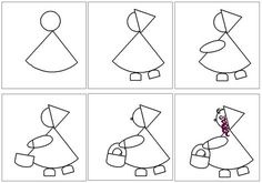 Quelques idées d'art visuel, dessin par étapes, bricolage de Noël, papier cadeau fait main, couronnes rouges et or, aurore boréale, ours polaire, banquise, forêt, automne, Gustav KLIMT Projects For Kids, Diy For Kids, Art Projects, Gustav Klimt, Traditional Tales, Directed Drawing, Charley Harper, Red Riding Hood, Little Red
