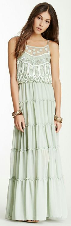 Stardust Mesh Trim Festival Maxi by Free People
