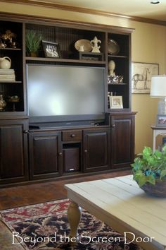 Beyond The Screen Door Page 3 Decorating Entertainment Center Shelves