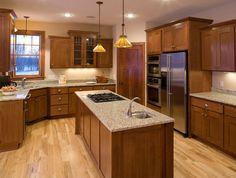 Oak Cabinets Dark Floor Design Ideas, Pictures, Remodel, and Decor ...