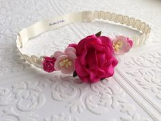 The Hot Pink Juliet Floral Crown on Etsy, $13.99