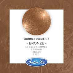 How to mix a sparkling Copper color using the new Satin Ice Gold Shimmer fondant! Method: Mix 80 parts Gold Shimmer with 5 parts classic Satin Ice Brown, 4 parts classic Satin Ice Red & 1 part Black classic Satin Ice fondant. ✨ Knead until fully combined. Gold Fondant, Satin Ice Fondant, Cake Decorating Techniques, Cake Decorating Tutorials, Decorating Cakes, Gold Food Coloring, Coloured Icing, Making Fondant, How To Make Rose