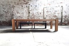 Solid American oak dining table