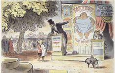 Edward Ardizzone - The Fattest Woman in the World - Poster 1956 Edward Ardizzone, Best Children Books, English Artists, Children's Book Illustration, Colleges, Children's Books, Sketchbooks, Alice In Wonderland, In This World