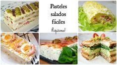 5 pasteles salados muy muy fáciles y ricos a más no poder