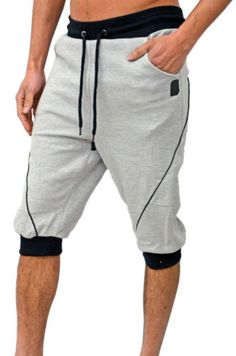 Mens-Humor-Jeans-Casual-Jogger-Cuffed-Shorts-Sweat-Fleece-Running-Sports-Nabi