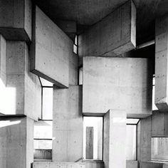 Wotruba Kirche, Fritz Wotruba 1976 #mondayinspiration #archivesofawesomeness