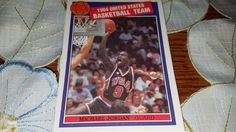 1984 USA MICHAEL JORDAN  RARE MISSING LINK REPRINT ROOKIE  BASKETBALL CARD