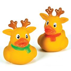 Reindeer Rubber Ducks - $2.75 : Ducks Only!, Exclusively Ducks - The reindeer are ready to get to Christmas with their red and green scarves.