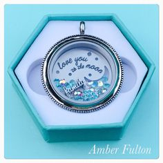 My favorite origami owl plate of all time because I love my family to the moon &back Www.charityhall.origamiowl.com