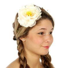 Braided band big flower crown headband white - Home Flower Braids, Flower Crown Headband, White Headband, Headband Hair, Wholesale Hair Accessories, Wholesale Scarves, Braids Band, Big Flowers, Vacation Outfits