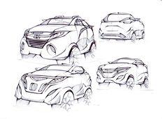 Self Project redesign Honda CR-V  #cardesign #carsketch #transportationdesign #hondacrv