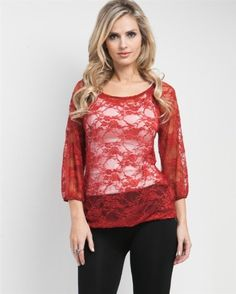 G2 Chic Rose Lace Smocked Top $17.96-$20.98