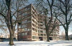 Miller & Maranta - Schwarzpark social housing, Basel...
