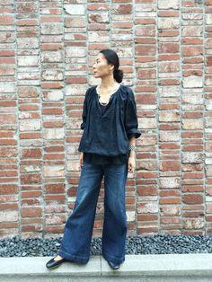 SAIJIKii Rm.maedaさんのネックレス「アンティークビーズロングネックレス(45R|フォーティファイブ・アール)」を使ったコーディネート