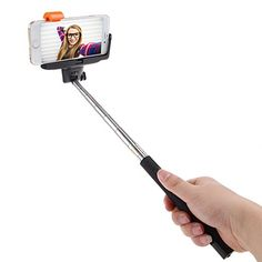 Selfie Stick with built-in Bluetooth Wireless Shutter Release Button and Adjustable Phone Holder