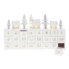 Calendrier de l'avent lumineux forme maison en bois LED 23x37.5x7.5cm JULE Blachere Illumination