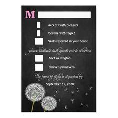DealsChalkboard Dandelion Vintage Wedding RSVP Cardstoday price drop and special promotion. Get The best buy