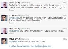 Tyler Okley & Troye Sivan <3 ahhhh <3 =)