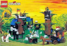 LEGO Castle Dark Forest Fortress for sale online Best Lego Sets, Big Lego, Forest People, Lego Clones, Lego Videos, Lego System, Lego Castle, Vintage Lego, Lego Toys