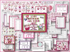 Love to Plan Differentiated and Aligned Valentine's Math Stations - Differentiated Kindergarten
