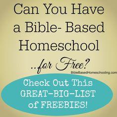 BIG List of Bible Based FREEBIES http://biblebasedhomeschooling.com/big-list-bible-based-freebies/