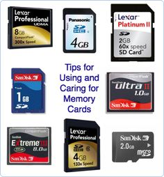 13 Tips for Using and Caring for Memory Cards