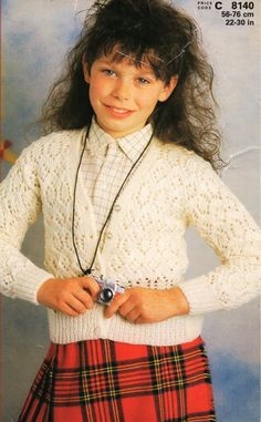 ad555bfd6889d6 childrens lacy v neck DK cardigan knitting pattern PDF girls lace jacket  22-30