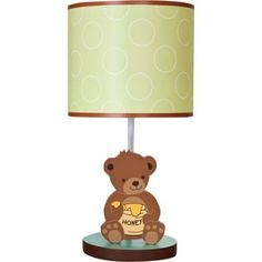 Lambs U0026 Ivy Bedtime Originals Honey Bear Lamp With Shade And Bulb, Green