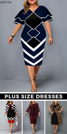 Get ready to be the best dressed in this season. Trendy Plus Size Dresses, Plus Dresses, Plus Size Outfits, Nice Dresses, Curvy Outfits, Casual Fall Outfits, Plus Size Fall Outfit, Classy Casual, Plus Size Fashion For Women