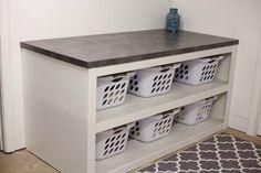 Basement Laundry Storage Baskets Ideas For 2019 Laundry Basket Holder, Laundry Basket Dresser, Laundry Room Baskets, Laundry Basket Storage, Laundry Sorter, Laundry Room Organization, Laundry Room Design, Washing Basket, Organizing